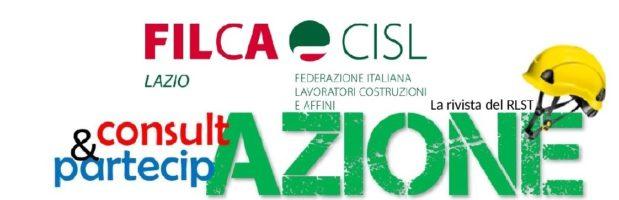 Terzo numero della rivista del RLST della Filca Cisl del Lazio